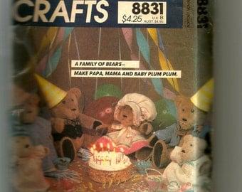 McCall's Bear Family Pattern 8831