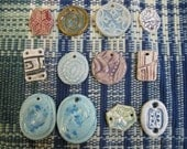 designer pendants  12  pc jewlery components  sampler sale