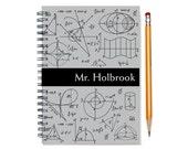 Math nerd custom planner, weekly planner, personalized daily calendar, academic planner, 2015-2016, math teacher present, SKU: pl math blk