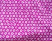 Kaufman Minky Cuddle Blossom Party Fleece Magenta HOT PINK White 21 inches x 60 inches
