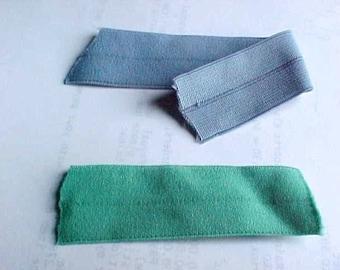 FOLDOVER Elastic Grass GREEN 1 inch Matte Plush 5 yds. Headbands Diaper