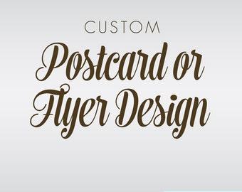 Custom Postcard Design - Designed for Your Business - Promotional Postcard Design - Business Flyer Design - Custom Rack Card Design