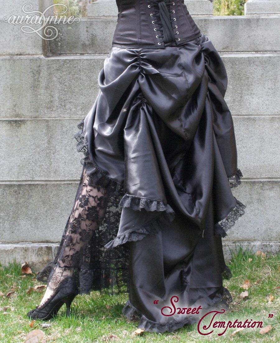 my faire steunk bustle skirt high low