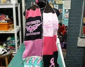 Breast Cancer Awareness Scarf . Unisex . Mens . Womens . Winter Scarf . Cotton . Recycled Clothing . Eco Friendly