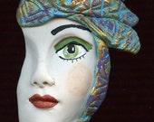 Polymer Clay Profile One of a kind Detailed and textured Face Shard  AHPT 6