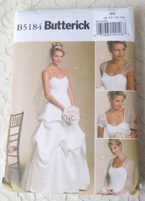 butterick sewing pattern misses wedding bwec