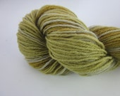50g Spring Woods Golden Brown Green Blue Space Dyed Natural Dye 4-ply Fingering Wool Yarn