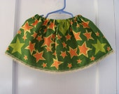 Green & Orange Stars Print Bandana Skirt ONE SIZE FITS 12 months to 3T