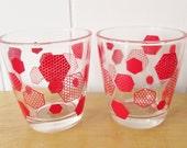 vintage honeycomb glasses