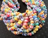 Picasso Rainbow Seed Beads, 6/0, Colorful Seed Beads Mix, Bright Speckled, Multi Colored, Czech Beads SB003