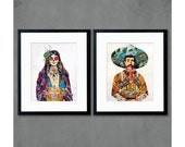 Señor and Señorita Mexican Art Prints