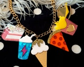 Junk Food Acrylic Charms Necklace