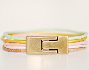 leather bracelet, leather bracelet for women, cuff bracelet, leather cuff, leather cord bracelet,magnetic clasp, pastel bracelet