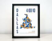 Personalized Dallas Marathon Print