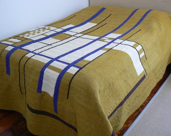 Queen Sized Modern Quilt Abstraction