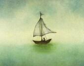 Set Of Ten Sailboat Thank You Postcards