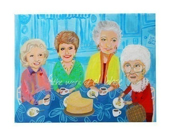Ode to Rose, Blanche, Dorothy, Sophia and the Cheesecake ... Thank You For Being a Friend ... limited edition large print