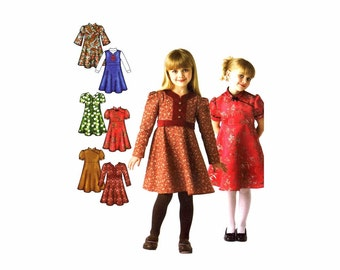 Girls Dress or Jumper Simplicity 3588 Sewing Pattern Size 3 - 4 - 5 - 6 - 7 - 8 UNCUT