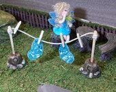 Fairy Garden clothes line and fairy wings