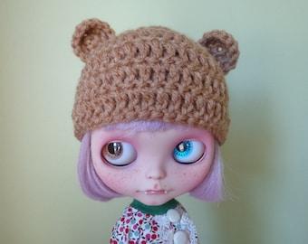 WARM BROWN teddy ears. smaller ears version