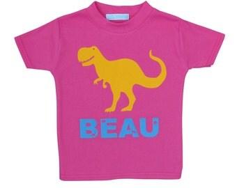Dinosaur t shirt with name