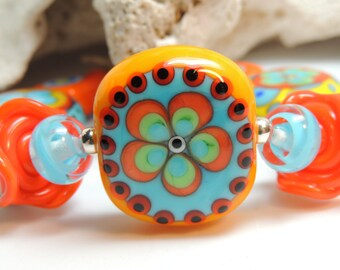 BONLYN Handmade Lampwork Bead Bracelet