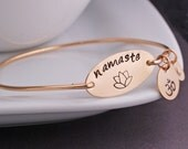 Namaste Bracelet, Yoga Lotus Jewelry, Namaste Jewelry Gift, Yoga Jewelry Gift,