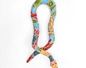 catnip snake, cat toy, organic catnip, kitty toy, catnip toy, cat snake toy, blue floral fabric