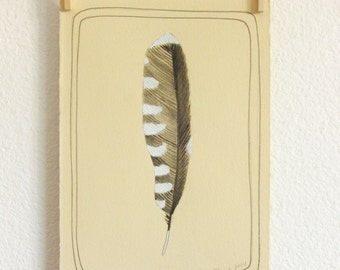 Feather Art - Watercolor Painting - Original Painting - Original Artwork - Home Decor - Wall Art - Feather Artwork - Feather 2