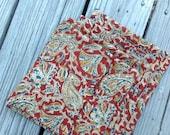 "Napkins, Cloth napkins, 15"" cloth napkins, handmade, indian print, all cotton,  set of four"