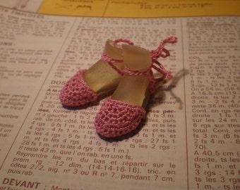 Enchanted Doll Espadrilles in Dark Pink