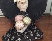 Primitve Snowman Snowgal Gelato ready to ship