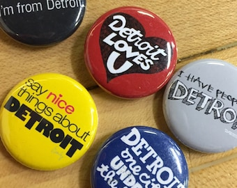 Most wanted DetroitGT button set - Set of 5