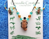 Platypus Necklace Earrings Set, Supports Animal Welfare