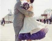 "Silk Dupioni Gathered Bust Portrait Wedding Dress ""Miss Mia"""
