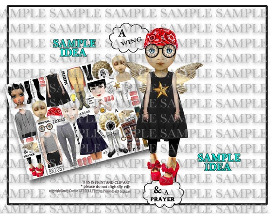 ART TEA LiFE Mind Full Paper Dolls Collage Sheet Digital File Printable  Download Decoupage Clip Art Scrapbook Journalling Page From Onecrabapple On  Etsy ...
