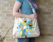 Upcycled Tote or Market Bag Tree -  Sunshine and Blue Skies