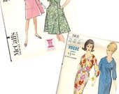 Vintage 1960's Sewing Patterns Dresses Vogue 5831 & McCall's 7832