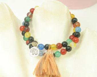 Charm & tassel bracelets
