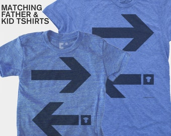 SALE Matching Dad Kids TShirt, &, Arrows, Typography, Father Son Matching, Father Daughter Matching, Dad Baby, Gift for Dad