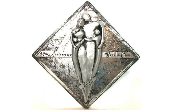 Tin Wedding Anniversary Gift: Aluminum 10th Wedding Anniversary Gift Custom By