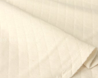 Japanese Fabric Quilted Knit - cream - 50cm