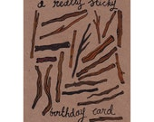A Really Sticky Birthday Card