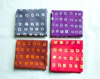 Mini squares hand dyed and patterned fat quarter bundle