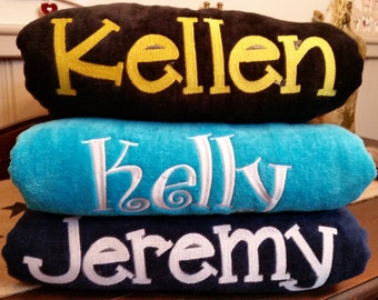 Set of 3 Embroidered Personalized Beach Towels - Custom item