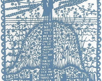 Can We Shall We  Pale Blue Lasercut