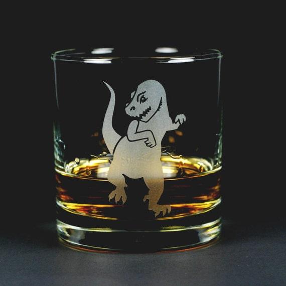 Dinosaur Lowball Glass - Tyrannosaurus Rex