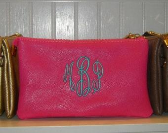 Hot Pink Crossbody, Shoulder Bag, Wristlet, or Clutch