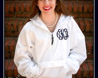 Monogram Windbreaker Jacket Charles River by SomethingYouGifts