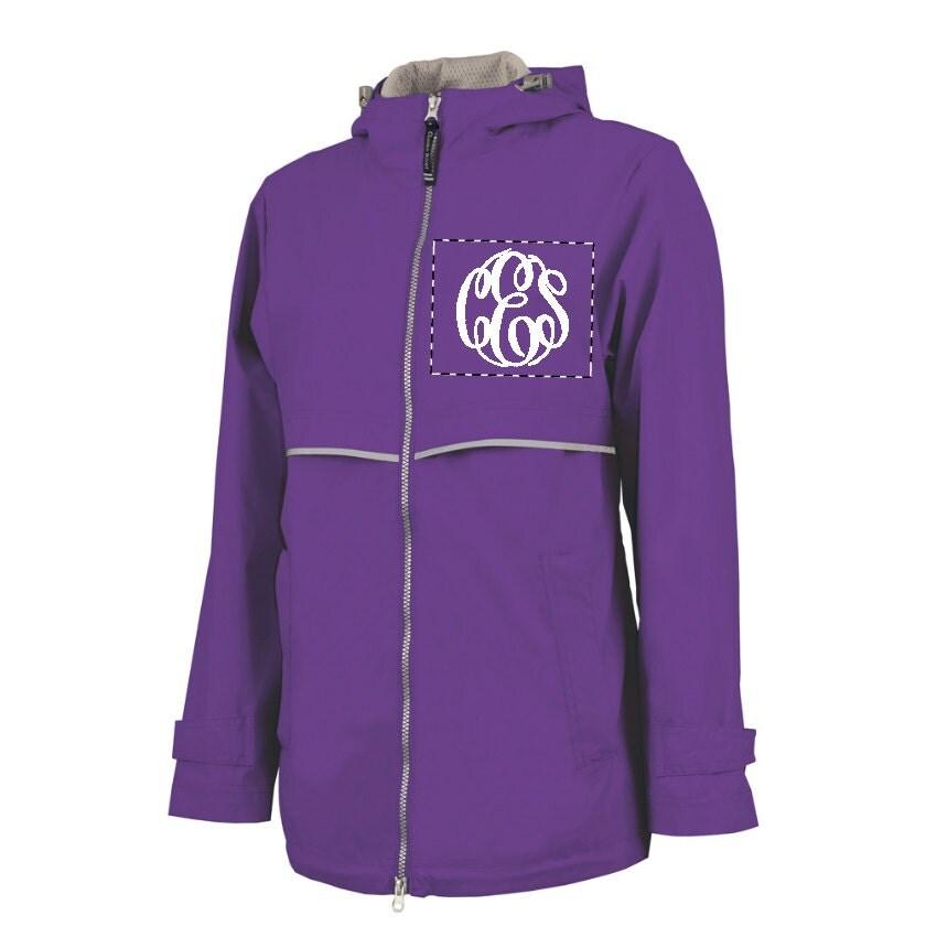 purple monogram raincoat jacket waterproof by somethingyougifts